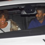 Whitney And Ray-J Together On Feb 3rd at Sunset Plaza in West Hollywood, California