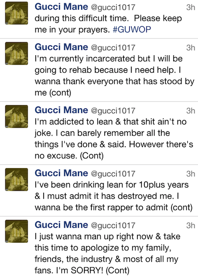 Gucci Mane Apologizes For Twitter Rant – Blames His ...