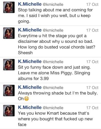 K.Michelle tweets-to tamarbraxton-thatplum